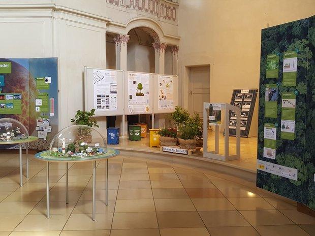 Blick in die Ausstellung zum Thema Klimawandel