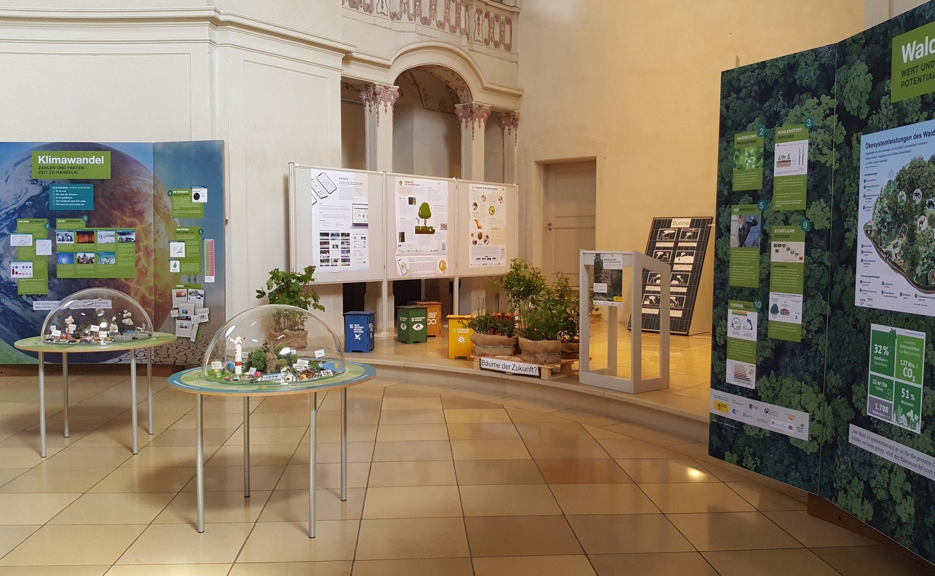 Blick in die Ausstellung zum Klimawandel