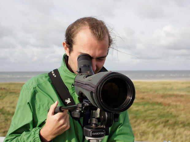 Umweltpraktikant bei der Vogelzählung